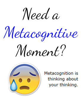 Metacognitive Moment Motovational Posters