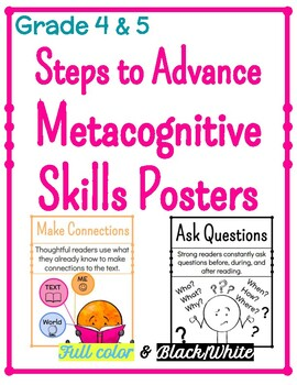 Metacognitive Skills Posters for Steps to Advance - Grade 4 & 5