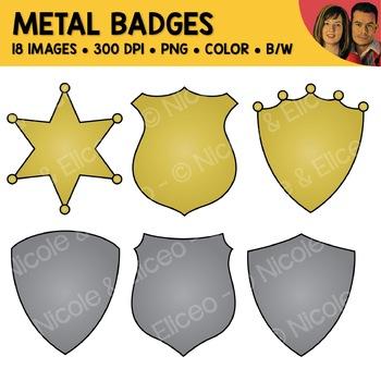 Metal Badge Clipart