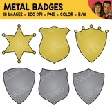 Metal Badge Clipart