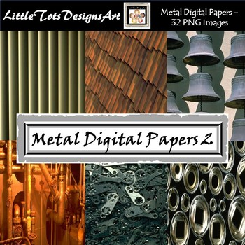 Metal Digital Papers - Commercial Use - Set 2