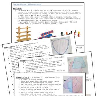 Montessori Metal Insets - Lesson Plans