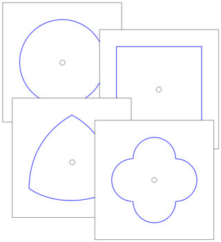 Metal Insets - Shape Outlines