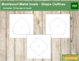 Montessori Metal Insets - Shape Outlines