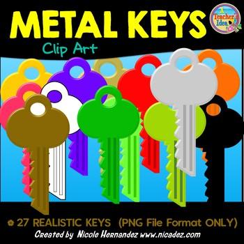 Metal Keys Clip Art for Teachers