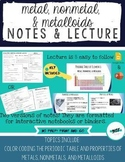 Metal, Nonmetal, and Metalloid Lecture and Guided Notes