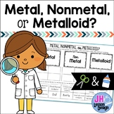 Metals Nonmetals and Metalloids: Cut and Paste Sorting Activity