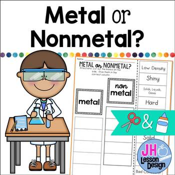 Metal or Nonmetal? Cut and Paste Sorting Activity