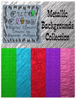 Metallic Backgrounds Collection [Cute Clips Digital Clip Art]