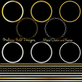 f4595fe594ce Metallic Chain Circle Frames and Borders Metallic Chain Circle Frames and  Borders