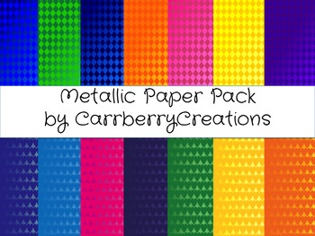Metallic Digital Paper Pack