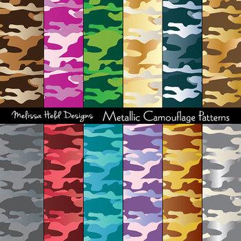 Metallic Effect Camouflage Patterns
