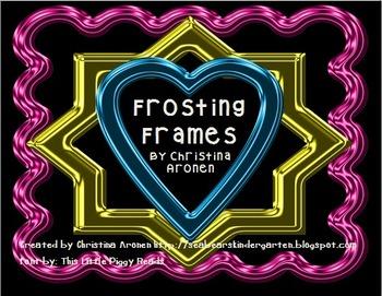 Metallic Frosting Frames Clip Art