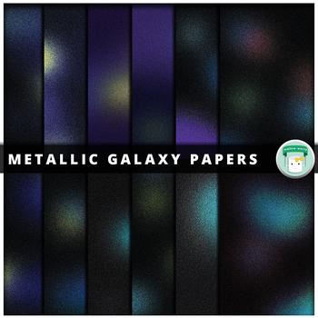 Metallic Galaxy Digital Paper
