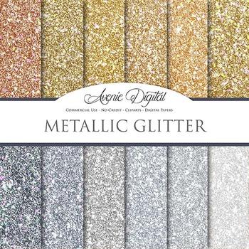 Metallic Glitter Textures Background Digital Paper scrapbo