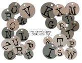 Metallic Letter Tag Clippings