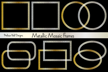 Metallic Mosaic Frames Clipart