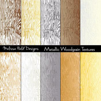 Woodgrain Textures: Metallic