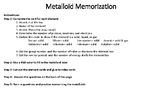 Metalloid Memorization