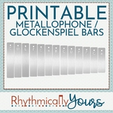 Metallophone Glockenspiel Bar Manipulatives