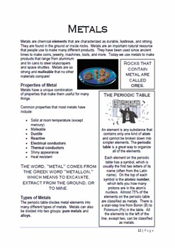Metals: A Thematic Notebooking Unit