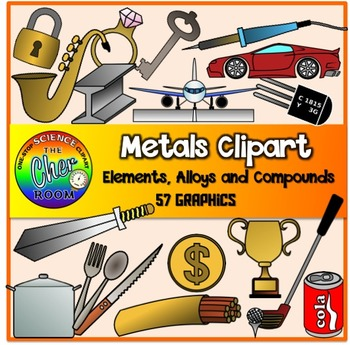 Metals Clipart (Elements, Alloys)