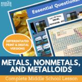 Metals Nonmetals Metalloids Complete 5E Lesson Plan