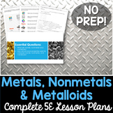 Metals Nonmetals Metalloids Complete 5E Lesson Plan - Distance Learning