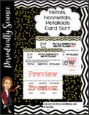 Metals, Nonmetals, Metalloids Card Sort