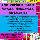Metals Nonmetals Metalloids of the Periodic Table complete UNIT-5E's+way more!