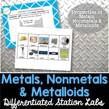 metals nonmetals and metalloids student led station lab by kesler