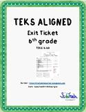 Metals, Nonmetals & Metalloids Exit Ticket  (TEKS 6.6A)