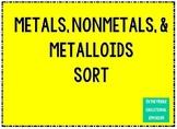 Metals, Nonmetals, & Metalloids Sort