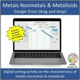 Metals Nonmetals & Metalloids (drag and drop) Google Drive Activity