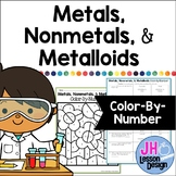 Metals Nonmetals and Metalloids: Color-By-Number