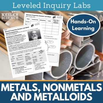 Metals Nonmetals and Metalloids Inquiry Labs