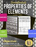 Metals, Nonmetals, and Metalloids - Properties of Elements - Card Sort Activity