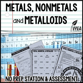 Metals, Nonmetals, and Metalloids Science Center and Assessment