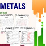 Metals Science Activity Bundle Scramble Unscramble Word Fi
