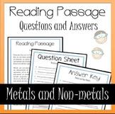 Metals and Non-Metals Worksheet Activity