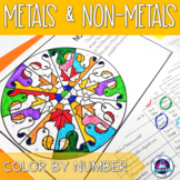 Metals and Non-metals Color by Number Science Activity