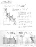 Metals vs. Nonmetals vs. Metalloids Color-able Foldable