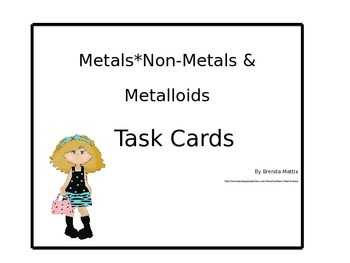 Metals*Non-Metals*Metalloids:Periodic Table 3 Major Divisi