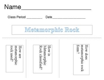 Metamorphic Rock Flip Book