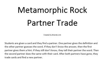 Metamorphic Rock Partner Trade