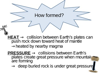 Metamorphic Rock Power Point and Foldable