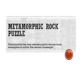 Metamorphic Rock Puzzle