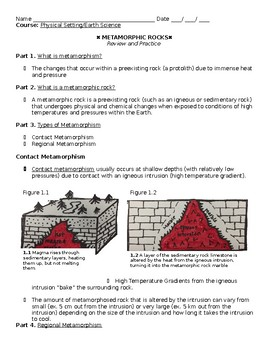 Metamorphic Rock Review Guide