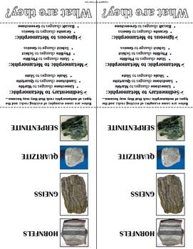 Metamorphic Rock Study Booklet
