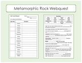 Metamorphic Rock Webquest / Worksheet to go with websites